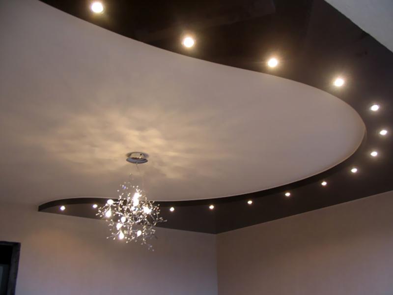 Двухъярусные потолки фото